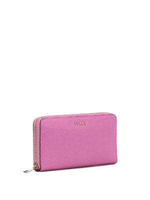 Furla: wallets & purses online - Babylon XL zip around pink wallet