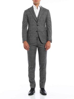 Gabriele Pasini: formal suits online - Prince of Wales wool suit