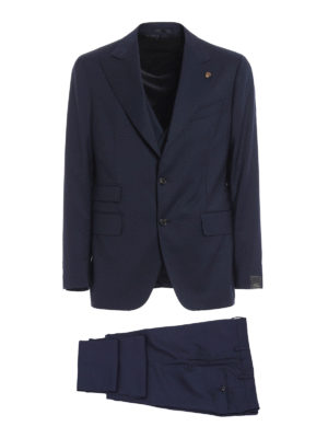 Gabriele Pasini: formal suits - Three-piece wool and cashmere suit