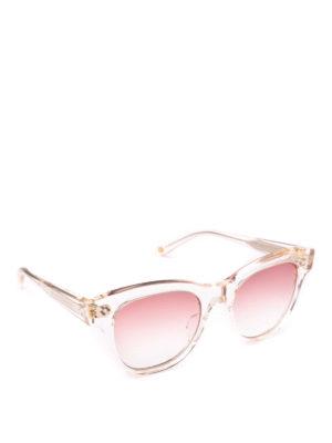 GARRETT LEIGHT: occhiali da sole - Occhiali da sole Ulla Johnson Sun trasparenti