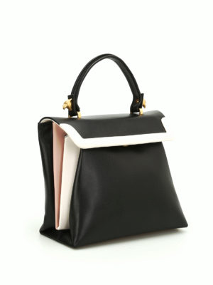Giancarlo Petriglia: shoulder bags online - Origami smooth calfskin bag