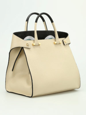 Giancarlo Petriglia: totes bags online - Paloma hammered leather bag