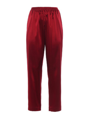 Gianluca Capannolo: Tailored & Formal trousers - Mila envers satin pajama pants