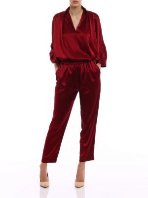 Gianluca Capannolo: Tailored & Formal trousers online - Mila envers satin pajama pants