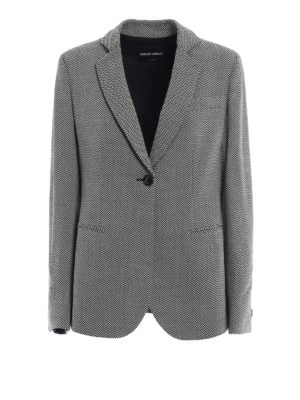 Giorgio Armani: blazers - Chevron wool one button blazer
