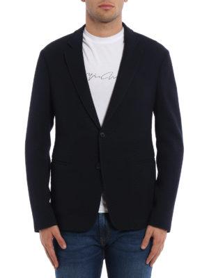 Giorgio Armani: blazers online - Wool jersey unstructured blazer