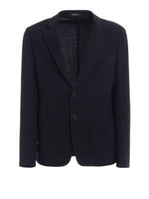 Giorgio Armani: blazers - Wool jersey unstructured blazer