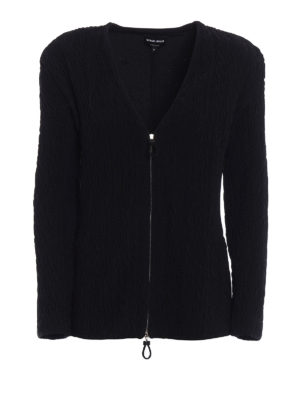 Giorgio Armani: casual jackets - Relief texture zipped jacket