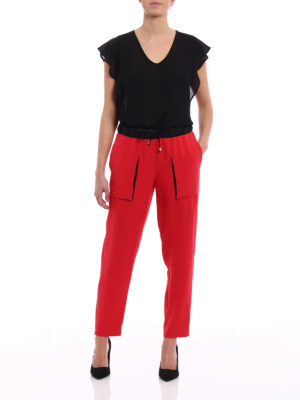 Giorgio Armani: casual trousers online - Red Mulberry silk trousers