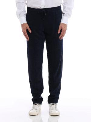 Giorgio Armani: casual trousers online - Textured chenille trousers