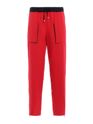 Giorgio Armani: casual trousers - Red Mulberry silk trousers