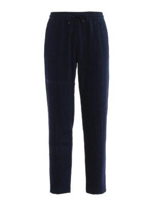 Giorgio Armani: casual trousers - Textured chenille trousers