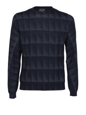Giorgio Armani: crew necks - Geometric pattern crew neck sweater