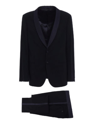 Giorgio Armani: dinner suits - Blue cool wool tuxedo suit