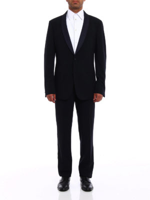 Giorgio Armani: dinner suits online - Blue cool wool tuxedo suit