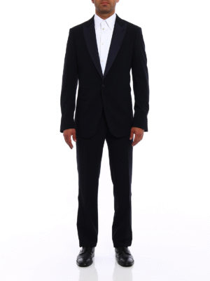 Giorgio Armani: dinner suits online - Soho blue wool tuxedo suit
