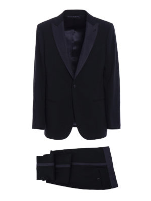 Giorgio Armani: dinner suits - Soho blue wool tuxedo suit