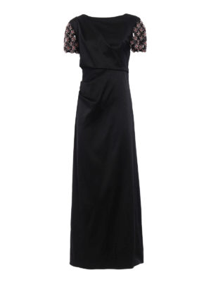 Giorgio Armani: evening dresses - Embellished sleeve draped gown