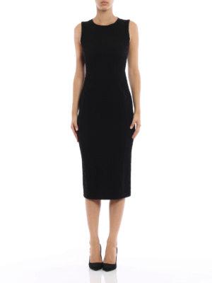 Giorgio Armani: evening dresses online - Embossed stretch fabric dress