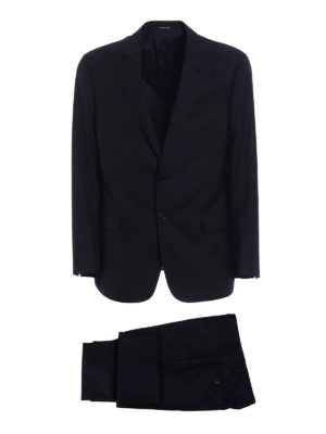 Giorgio Armani: formal suits - Micro patterned wool two-piece suit