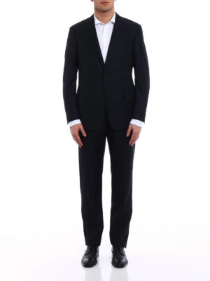 Giorgio Armani: formal suits online - Micro patterned wool two-piece suit