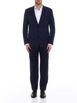 Giorgio Armani: formal suits online - Pinstriped wool two-piece suit