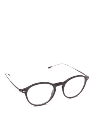 GIORGIO ARMANI: Occhiali - Occhiali da vista tondi in acetato e metallo
