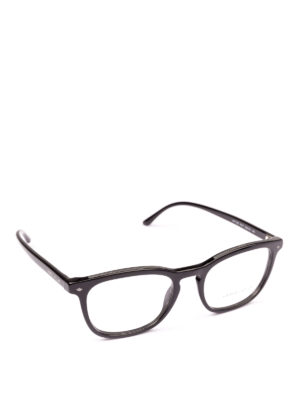 GIORGIO ARMANI: Occhiali - Occhiali da vista neri rettangolari