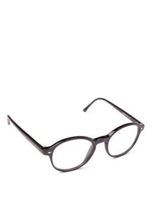 GIORGIO ARMANI: Occhiali - Occhiali da vista tondi in acetato nero