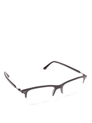 GIORGIO ARMANI: Occhiali - Occhiali rettangolari con mezza montatura