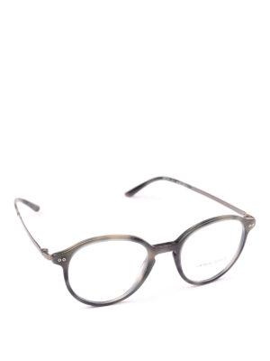 GIORGIO ARMANI: Occhiali - Occhiali da vista panto tartarugati blu