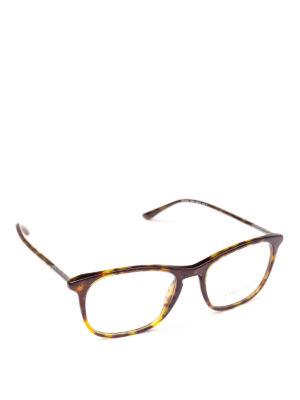 GIORGIO ARMANI: Occhiali - Occhiali da vista forma panto color avana
