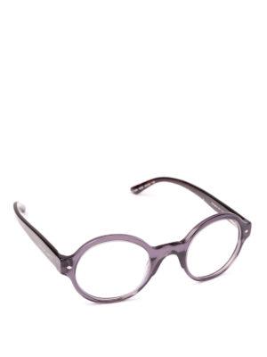 GIORGIO ARMANI: Occhiali - Occhiali da vista tondi in acetato grigio