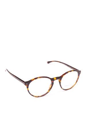 GIORGIO ARMANI: Occhiali - Occhiali da vista panto effetto tartaruga