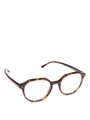 GIORGIO ARMANI: Occhiali - Occhiali da vista avana di forma geometrica