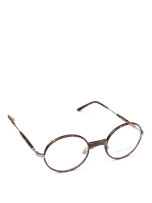GIORGIO ARMANI: Occhiali - Occhiali da vista ovali effetto tartaruga
