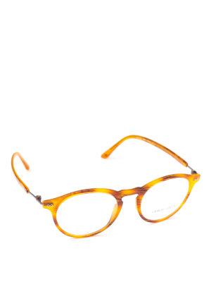 GIORGIO ARMANI: Occhiali - Occhiali da vista forma panto color ambra