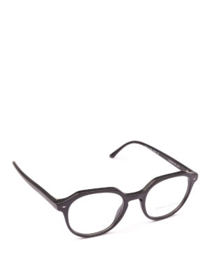 GIORGIO ARMANI: Occhiali - Occhiali da vista neri opachi geometrici