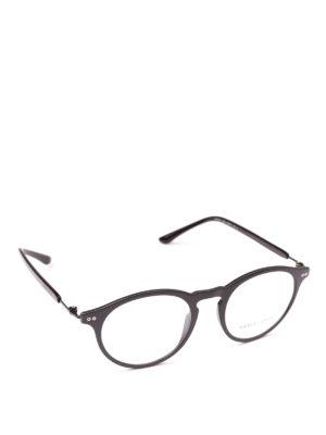 GIORGIO ARMANI: Occhiali - Occhiali da vista forma panto neri opachi