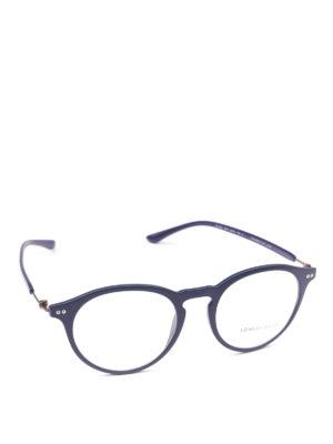 GIORGIO ARMANI: Occhiali - Occhiali da vista forma panto blu opachi