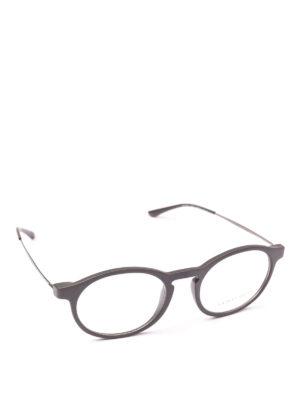 GIORGIO ARMANI: Occhiali - Occhiali da vista forma panto grigi opachi