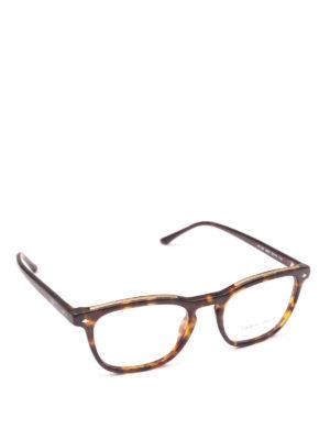GIORGIO ARMANI: Occhiali - Occhiali da vista rettangolari avana opaco