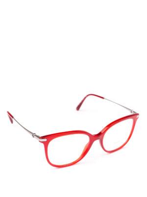 GIORGIO ARMANI: Occhiali - Occhiali da vista in acetato rosso opale