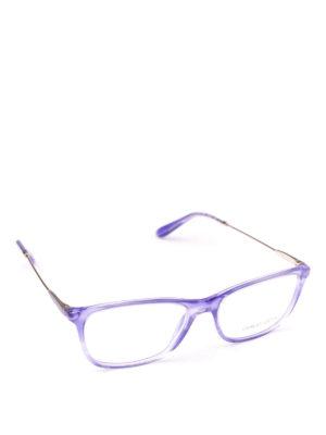 GIORGIO ARMANI: Occhiali - Occhiali da vista in acetato viola striato