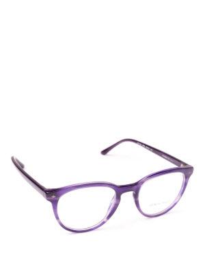 GIORGIO ARMANI: Occhiali - Occhiali da vista phantos viola striato