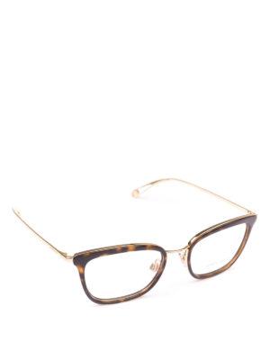 GIORGIO ARMANI: Occhiali - Occhiali da vista rettangolari tartarugati