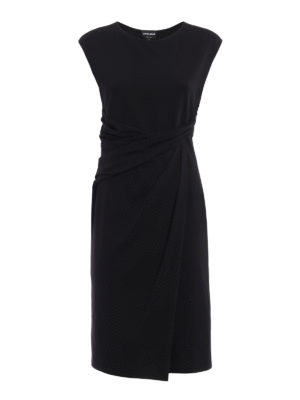 Giorgio Armani: knee length dresses - Ruched waist sleeveless dress