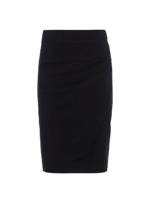 Giorgio Armani: Knee length skirts & Midi - Draped wool pencil skirt