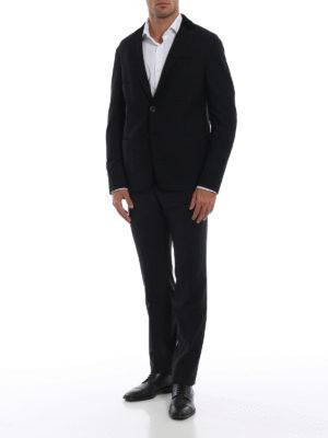 GIORGIO ARMANI: giacche blazer online - Blazer operato con dettaglio in velluto