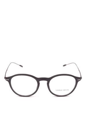 GIORGIO ARMANI: Occhiali online - Occhiali da vista tondi in acetato e metallo